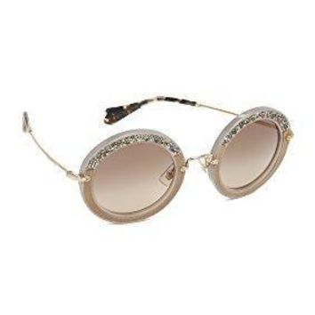Miu Miu Women's Round Crystal Sunglasses