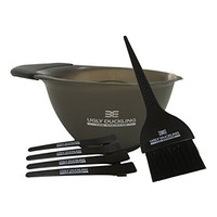 Salon Hair Color Dyeing Kit : Dye Brush, Mixing Bowl, 4 Sectioning Clips.