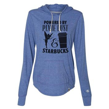 Powered By Pixie Dust & Starbucks - Womens Champion Brand Hoodie - Hooded Sweatshirt