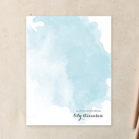 Blue Wash Personalized Stationery by Little Bird P... | Minted