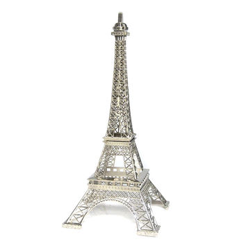 Paris France Eiffel Tower Stand, 15-inch, Silver