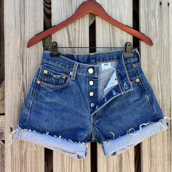 Vintage LEVI 501 Button Fly Jean Shorts  HIGH by TomieHarlene
