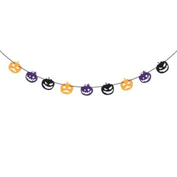 2.5M Non-woven Fabric Pumpkin Bunting Banner Happy Halloween Party Decoration Banners for Home Haunt House Ornaments