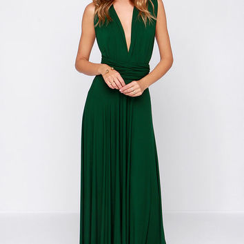 Tricks of the Trade Forest Green Maxi Dress