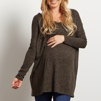 Olive-Green-Heathered-Soft-Knit-Dolman-Sweater