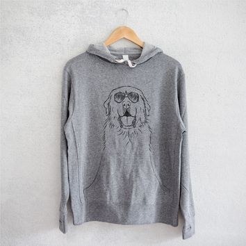 Zeus the Great Pyrenees - French Terry Hooded Sweatshirt
