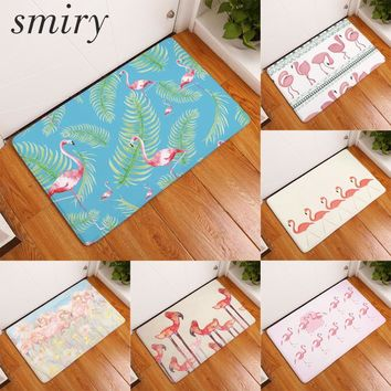 Autumn Fall welcome door mat doormat Smiry commercial s for entrance door beautiful pink flamingo pattern rugs water absorption living room bathroom carpets AT_76_7