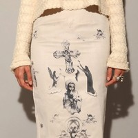 In God we trust pencil skirt [Rot3023] - $109.00 : Pixie Market, Fashion-Super-Market