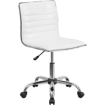 Flash Furniture White Ribbed Task Chair Decor