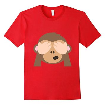 Monkey Emoji T-Shirt See No Evil