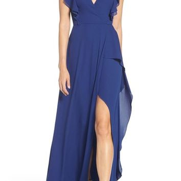 BCBGMAXAZRIA Georgette Fit & Flare Gown | Nordstrom