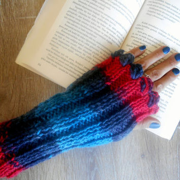 Handmade Gloves, Knit Mittens, Hand Warmer,Crochet Gloves,Winter Gloves,Long Knitted Gloves,Women gloves, Arm Warmers,Color Glove,Gift Ideas