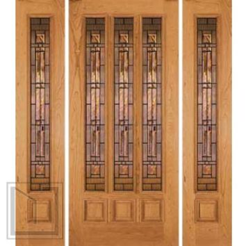 jeld-wen 180 Cherry Door and Sidelights Clear Finish