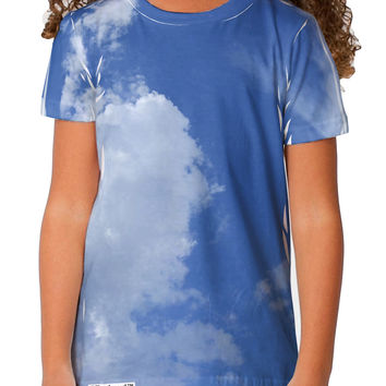 Clouds All Over Toddler T-Shirt Dual Sided All Over Print
