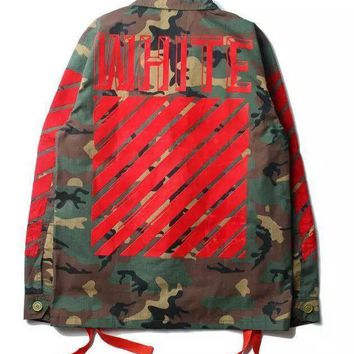 cc DCCK3 Army x Red Military Off White Jacket