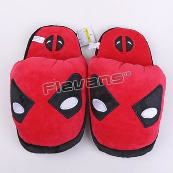 Deadpool Dead pool Taco Superhero Batman Superman  Spiderman Plush Shoes Toys Home House Winter Slippers for Children Women Men AT_70_6