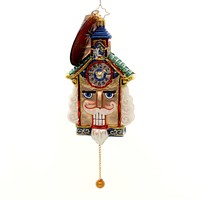 Christopher Radko TICK TOCK CRACKER Glass Nutcracker Christmas 1018188
