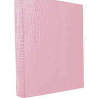 Aurora GB PROformance Binder, 2 Inch Round Ring, 8 1/2 x 11 Inch Size, Pink, Croc EmbossedEco-Friendly, Recyclable, Made in USA (AUA80130)