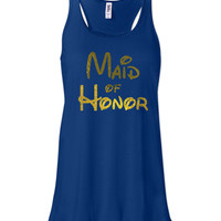 True Royal Disney Maid of Honor Tank by jCUBEDk