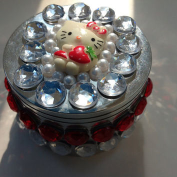 Hello Kitty Jeweled Herb Grinder by SmokingGirlCouture on Etsy