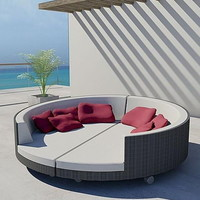 Attractive Outdoor Sunburn Lounge Chair