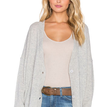 SUSS Evie Grandpa Cardigan in Heather Grey