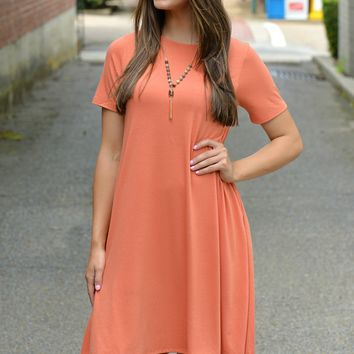 Anything Goes Orange Dress