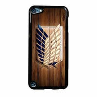 Attack On Titan Legion Logo Wood iPod Touch 5th Generation Case