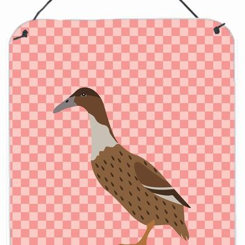Dutch Hook Bill Duck Pink Check Wall or Door Hanging Prints BB7861DS1216