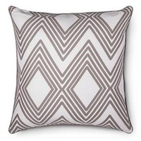 Oversized Throw Pillow Diamond Geo - Gray - Room Essentials™ : Target