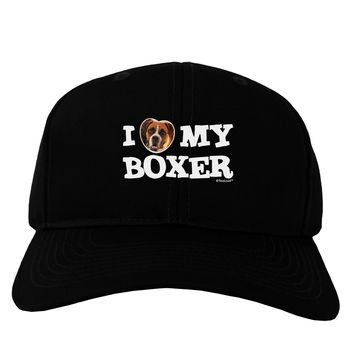 I Heart My Boxer Adult Dark Baseball Cap Hat by TooLoud