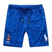 Polo Ralph Lauren Summer Fashion Embroidery Loose Basketball Running Breathable Sports Shorts Blue I12672-1