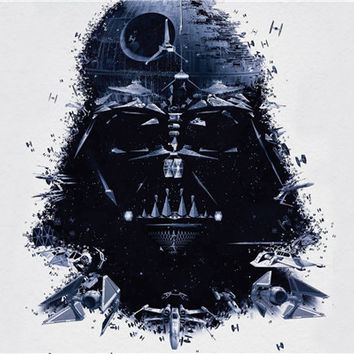 Free Shipping SW movie Posters film Darth Vader Comic Custom Canvas Wallpapers Star Wars Sticker Home Decor #PN#1140#