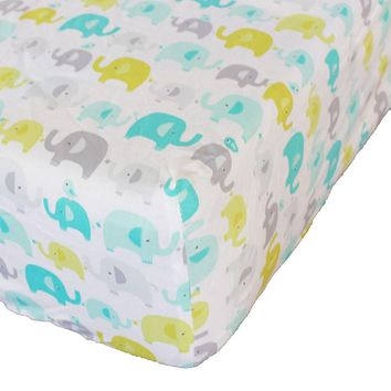"Cotton Crib Fitted 28""×52"" Sheet Soft Baby Bed Mattress Cover Protector Cartoon Newborn Bedding CRIB SHEET For Cot Size 28''x52''"