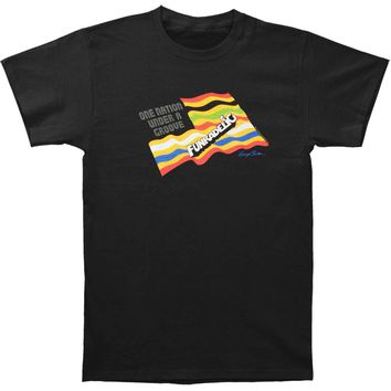 George Clinton & Parliament Funkadelic Men's  One Nation T-shirt Black