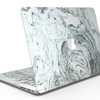 Mixtured Mint and Gray v3 Textured Marble - MacBook Air Skin Kit
