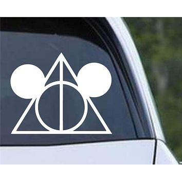 Harry Potter Deathly Hallows Mickey Die Cut Vinyl Decal Sticker
