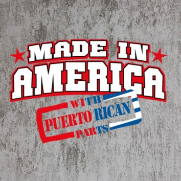 made in america puerto rican tshirt