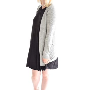 In The Moment Grey Cardigan