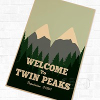Welcome to Horror Film Twin Peaks Vintage Retro Kraft Poster Decorative DIY Wall Stickers Home Bar Art Posters Decoration Gift