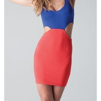 Side Cut Outs Dress - Kely Clothing