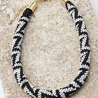 Beaded Rope Collar Necklace