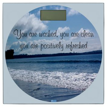 Refreshed Quote by Kat Worth Bathroom Scale