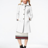 Anne Klein Petite Wool-Cashmere Walker Coat