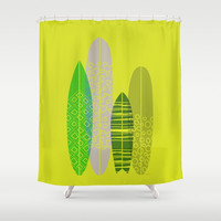 Lovely Boards Shower Curtain by Titus Ruiz