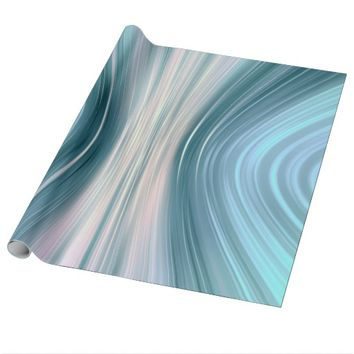 Aqua Turquoise Teal Driving Dreams Wrapping Paper