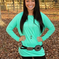 Live In Piko Top - Mint