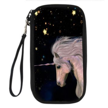 Unicorn Clutch Wallet (unicorn starry night)