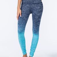Namawear Long Ombre Womens Yoga Pants Blue/Navy  In Sizes
