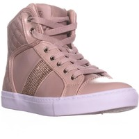 Guess Jaela High Top Fashion Sneakers, Pink, 6 US